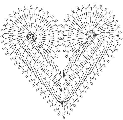 Схема вязания крючком сердце скачать схемы вязания шалей крючком схема вязания бараша вязание на спицах игрушки.