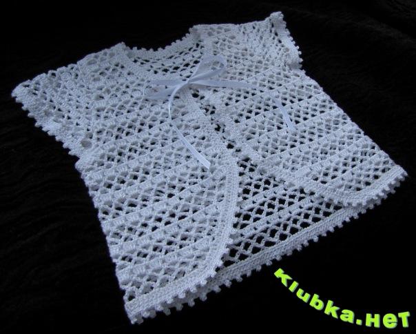 Вязаные кофточки для девочек - Рукоделие: вязание крючком и спицами, Схемы вязания крючком.