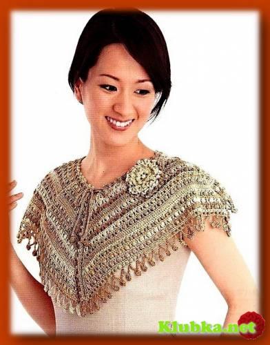 Универсальная схема для юбки, пончо, накидки и кокетки.