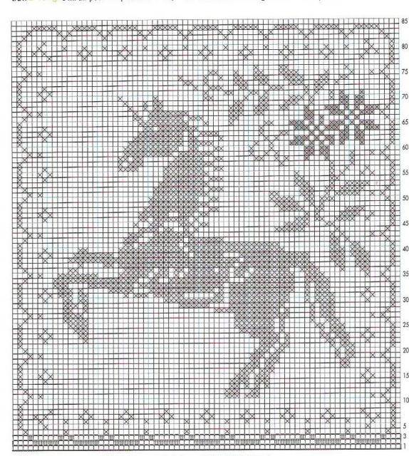 """Схемы  """"Животные """" для филейного вязания."""