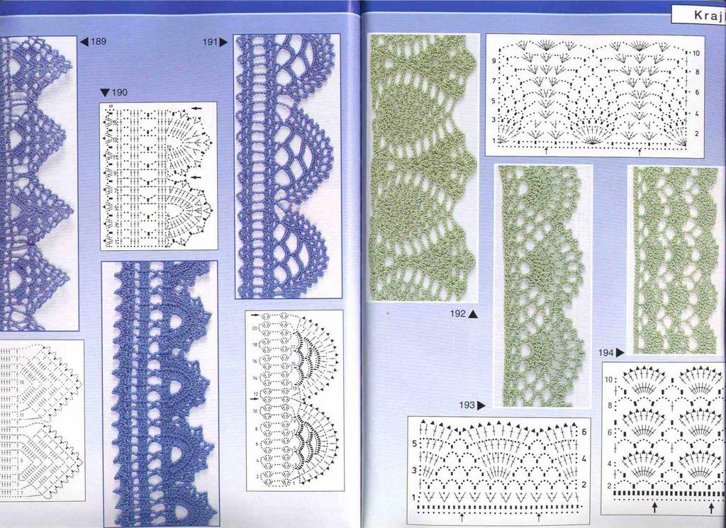 Кружево Белого с лососевым цвета Схему для крючка см. внизу.  Условные обозначения для схемы на стр. 20/21.
