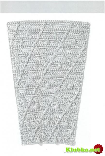 Схемы узоров для расширения полотна юбок,кокеток.