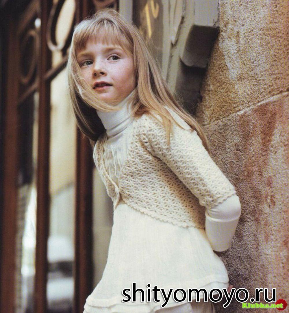Бесплатная схема вязания. схема болеро спицами для девочки 6 лет, в.